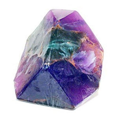 TS Pink Azurite Malachite Fragrance-Free - Soap that looks like a Rock ~ 6 oz. Gem Rocks Birthstone Jabón Gemstone