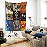 MORGAN MYERS Guns-N'-Roses Tapestry Wall Hanging Bedding Tapestry 3D Printed Art Tapestry Home Decor Size: 80'X60'