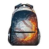 Best Baseball Backpacks - Blueangle Baseball Water Fire Print Travel Backpack Review