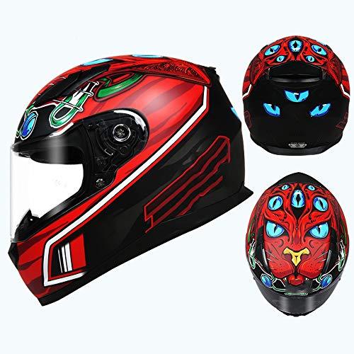 KIRA Casco De Moto Integral para Motocicleta Cascos Integrales Unisex Adulto Ece Homologado Apto para Carreras De Uso Fuera De Carretera