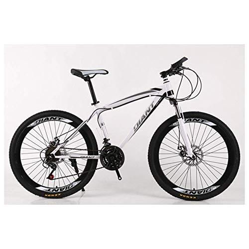 Deportes al Aire Libre Bicicleta de montaña/Bicicletas Unisex Ruedas de 26 '' Marco de Acero Ligero de Alto Carbono 21-30 Velocidades Freno de Disco Shimano, 26'