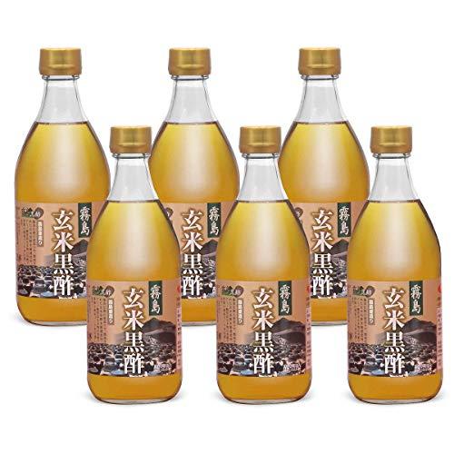 霧島壺造り 玄米黒酢 国内産玄米使用 500ml 6本セット