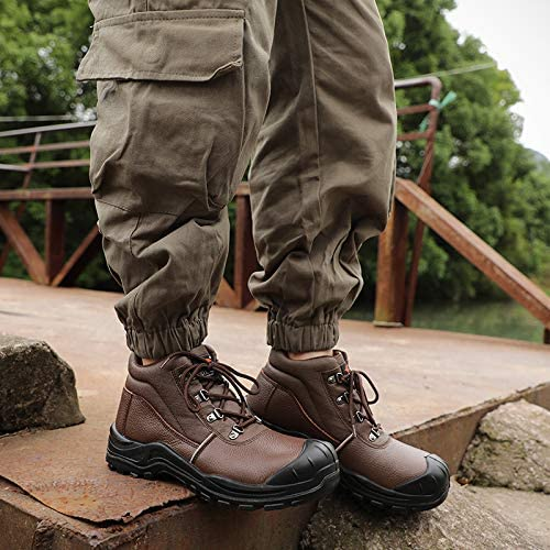 DRKA Water Resistant Steel Toe Work Boots for Men,6 EH-Rated Safety Boots