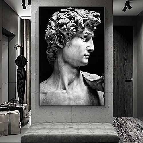 El David de Miguel Ángel Escultura Imagen Lienzo Pintura Arte de la pared Póster Impresiones HD Dormitorio Sala de estar Galería Estudio Oficina Decoración para el hogar Mural