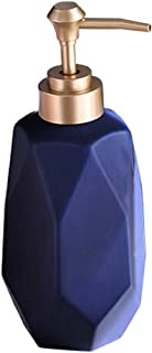Soap Dispenser 280ml/9.5oz Liquid Soap Pump Dish Soap Dispenser Ceramic Lotion Dispenser for Kitchen Bathroom Washroom (Blue)