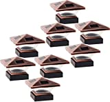 Best Solar Deck Post Lights - 8 Pack GreenLighting Siena Solar Post Cap Deck Review