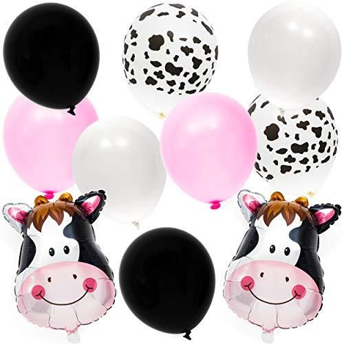 Globos con estampado de vaca para niños y fiestas de cumpleaños (62 unidades)