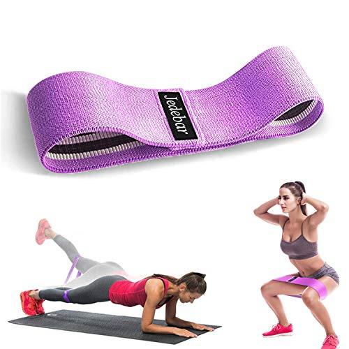 Jedebar Fitnessband Stoff Resistance Bands, rutschfest Widerstandsbänder, Booty Bands für Hüfte Beine Pilates Yoga Krafttraining – Athletin (35-45 lbs)