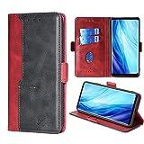 FiiMoo Handyhülle Kompatibel mit Oppo Reno 4 Pro 5G, [Weicher TPU] [Kartenfach] [Magnetverschluss] [Aufstellfunktion] PU Leder Tasche Flip Wallet Hülle Schutzhülle Hülle für Reno4 Pro 5G -Rot