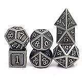 PJOY Metal DND Dice Set Polyhedral D&D Dragon Dice for Dungeons and Dragons Pathfinder TTRPG