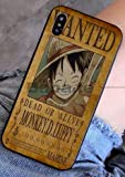 Art-design Coque iPhone 7+ Plus et iPhone 8+ Plus Luffy One Piece Japon Wanted Dessin Animé Silicone Souple