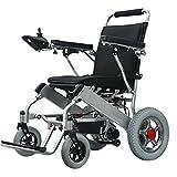 CIKO Silla De Ruedas Eléctrica Plegable Acero con Motor para Discapacitados Minusválidos Ancianos Ortopedica para Mayores