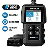 TOPDON OBD2 Diagnosegerät AL300 Auto Universal Fahrzeug Fehlercodeleser mit vollen OBD2-Funktionen, Lesen und Löschen von Codes zum Ausschalten der Motorkontrollleuchte