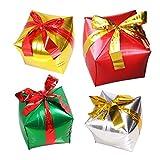 Amosfun Weihnachtsparty-Luftballons, kreative Geschenkbox-Form, Luftballons für Neujahr,...