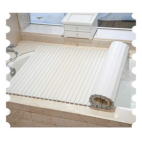 LIQICAI Badewannenbretter Badabdeckung Badewannenablage Caddy Tablett Isolierung-Abdeckung for Badewannen for Zu Hause, Hotels, Fitnessraum Und Club, 8 Größen (Color : White, Size : 70cmx140cm)