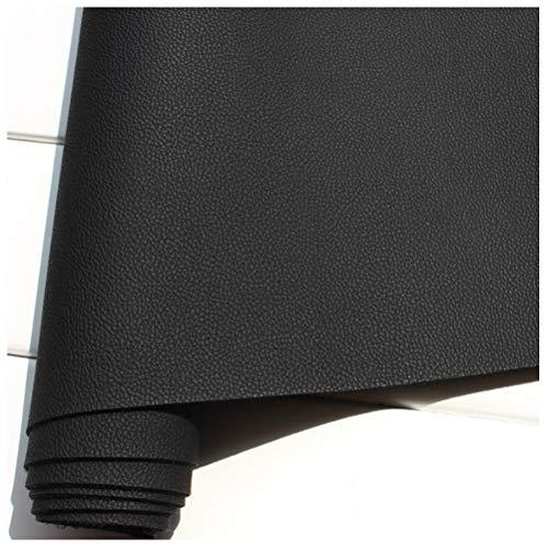 Cuero Sintético Tejido de Cuero Sintético 140 Cm de Ancho Tejido de Cuero PU, Cuero del Sofá, Asiento Interior de Cuero del Automóvil (Negro)(Size:1.4 * 5m)