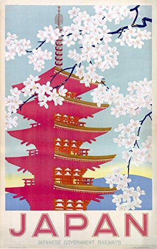 Spiffing Prints Japan Japanese Government Railways - Extra Large - Archival Matte - Black Frame