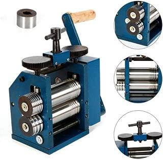 Manual Combination Rolling Mill Machine, Jewelry Rolling Mill Press Tabletting Tool, Wire Flat Pattern Sheet Metal Jewelry Marking DIY Tools Equipment, Roll Presser 75mm for Jewelers & Craft-people