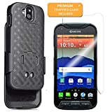 kyocera Duraforce Pro Case E6810, E6820, E6830 Shell Holster Combo with Belt Clip Black (2017 Version) (Does Not Work with Kyocera Duraforce Pro 2 E6910 2019 Version) - Casetek