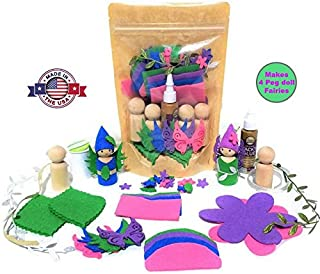 Wildflower Toys Peg Doll Fairy Kit for Ages 7+