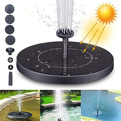 Fuente Solar Bomba, Fuente de Jardín Solar Panel y Solar Flotante con 6 boquillas, Solar Fuente Bomba para decoración de jardín, Fuente, Piscina, jardín, Estanque