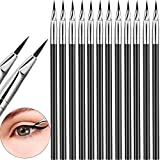 12 Pieces Angled Eyeliner Brush Tint Brush Gel Liquid Thin Makeup Tapered Brush Fine Bent Angle Lightweight for Quick Makeup Tool