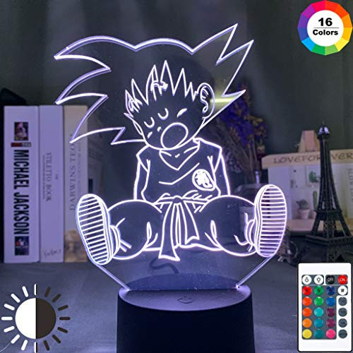 Baby Goku Schlaffigur Dragon Ball Nachtlicht 3D LED Tischlampe Kinder Geburtstagsgeschenk Nachtzimmer Dekoration