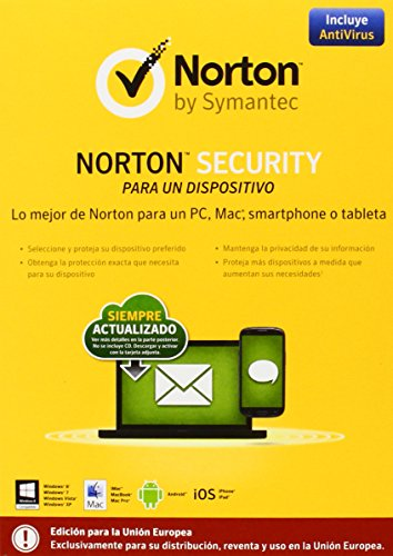Norton Security Anti-Virus Espagnol 1 Utilisateur 1 an
