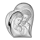 Valenti&Co - Icono Sagrada Familia de plata laminada Detalles dorados Cód: 81050 4L