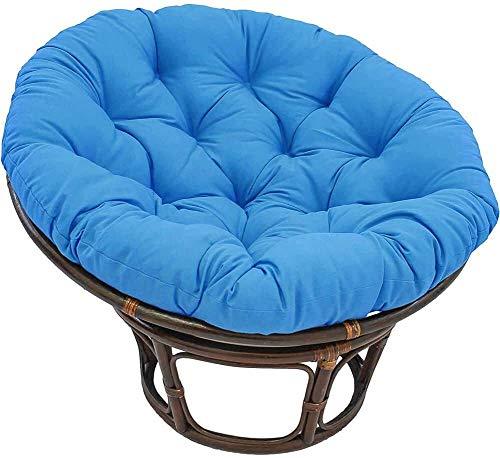 HEXEK Almohadillas sólidas para Asientos de Patio, Almohadillas Redondas para sillas Colgantes, colchoneta para Columpios para Cojines de Suelo con mechones para Interiores y Exteriores, cojín a (