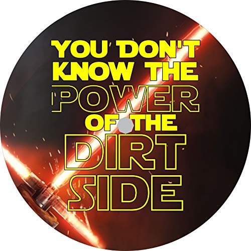 TIRE COVER CENTRAL Power of The Dirt Side Tribute to Star Wars Spare Tire Cover (Select tire Size/Back up Camera Option in MENU) Custom Sized to Any Make/Model 245/75r17 Centered Back up Camera