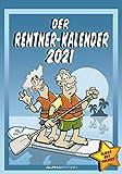 Der Rentner-Kalender 2021 - Bild-Kalender 24x34 cm - mit lustigen Cartoons - Humor-Kalender - Comic - Wandkalender - mit Platz für Notizen - Alpha Edition