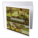 3dRose Scenes from The Past - Ephemera - 1920s Biscuits Advertisement Box Label Italian Art Venice - 1 Greeting Card with Envelope (gc_300328_5)