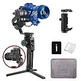 MOZA Aircross 2 Estabilizador Gimbal de 3 Ejes para cámaras compactas, Apto para BMPCC 4K, Canon EOS R, Cámaras Sony a Series, Carga 3,2 kg, Peso Gimbal 950 g (Negro)