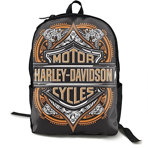 Ultraleichter lässiger Rucksack für Herren und Damen, Harley-Davidson, wasserabweisend, Tagesrucksack für Schule, Wandern, Camping, Reisen, Outdoor-Aktivitäten