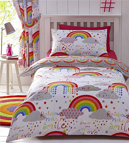 Homemaker Rainbow duvet cover sets girls bright bedding & curtains available (Duvet Set - Single)