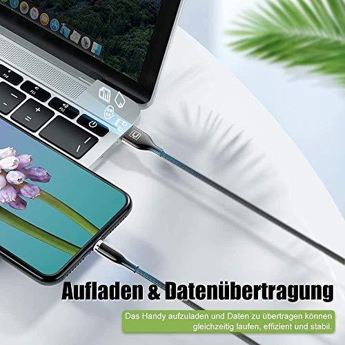 CAFELE 3 in 1 Ladekabel Magnetisch[1.2M+1.2M+2M],3A Schnellladung Magnet Ladekabel Datenkabel,Nylon Zinklegierung Magnetisches USB Kabel für MicroUSB/TypC/1Phone/Galaxy S10/Huawei P30/Honor/Xiaomi/LG