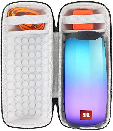 Khanka Hart Tasche Schutzhülle für JBL Pulse 4 Lautsprecher Wasserdicht Bluetooth Speaker Etui Case.(Schwarz)
