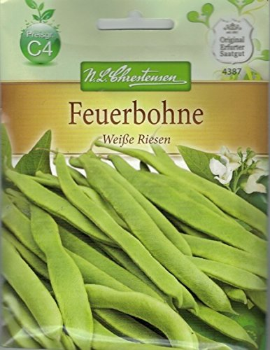 Chrestensen Prunkbohne 'Weiße Riesen' Saatgut