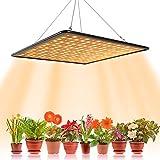Lámpara LED hortícola de crecimiento floral, 1000 W, para cultivo interior, planta, lámpara de crecimiento hidropónico, iluminación de germinación con gancho (A)