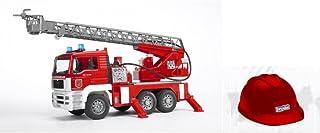 Bruder BRU01981 MAN TGA Fire Engine with ladder and toy helmet
