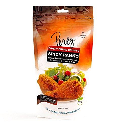 Pereg Spicy Seasoned Panko Breadcrumbs 9 oz each (3 Items Per Order)