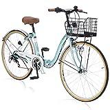 マイパラス(My Pallas) 折畳シティサイクル26・6段ギア・オートライト M-509 クールミント