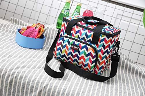 ランチバッグ 保冷 保温バッグ 大容量 通勤 通学 食品収納 断熱 ピクニック 手提げバッグ オックスフォード 防水 お弁当 バッグ 男女兼用(波状10L)