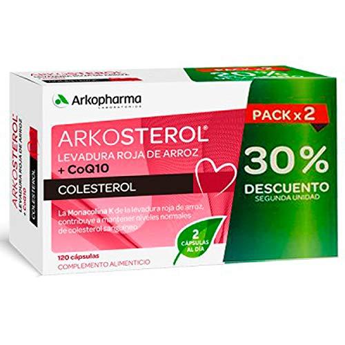 Arkopharma DUPLO Arkosterol Levadura Roja de Arroz+CoQ10, 2x60Cápsulas