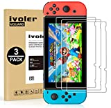 [3 Pack] Screen Protector Tempered Glass for Nintendo Switch, iVoler Transparent HD Clear Anti-Scratch Screen Protector Compatible Nintendo Switch