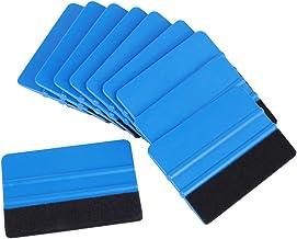 ulofpc 10 stuks rakel voor het aanbrengen en verpakken – rakel met viltrand en rakel – voor het aanbrengen van autoruiten,...