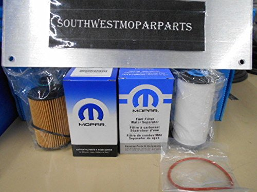 Mopar 2014-18 Dodge RAM 1500 ECO Diesel Fuel & Oil Filter OEM# 68235275AA 68229402AA