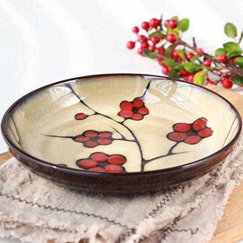 Keramische Suppenteller Japanische Kochplatte Gerichte für Restaurant Küche Nudelsuppe Pasta Obstsalat