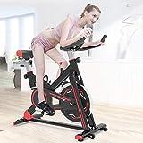 WYZXR Heimtraining Fahrrad Fahrrad Cardio Workout Display Verstellbarer Lenker Sitzhöhe Fitness Fahrrad Ideal Cardio Trainer